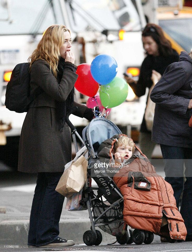 Kate Winslet and family during Kate Winslet Sighting in New York's Meat Packing District - November 25, 2006 at Meat Packing District in New York, New York, United States.
