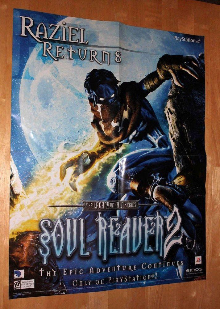 Soul Reaver 2 Raziel Promo Poster Legacy Of Kain 24x18.5 Crystal Dynamics