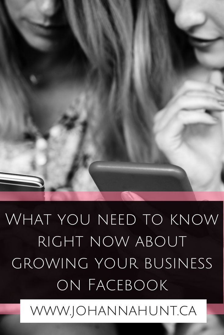 Facebook. What you need to know to right now to grow your business.