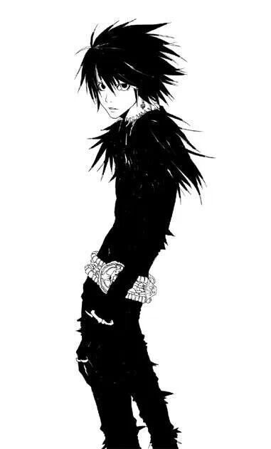 L dressed as Ryuk. Why does this look so cute to me??? ^-^