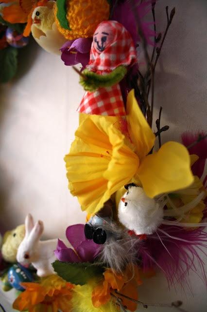 Details of Easter wreath  by Ida (Tyg och otyg).