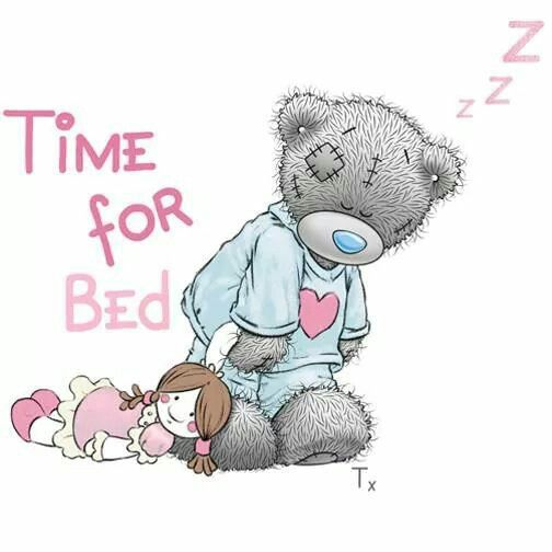 Tatty Teddy Time for bed