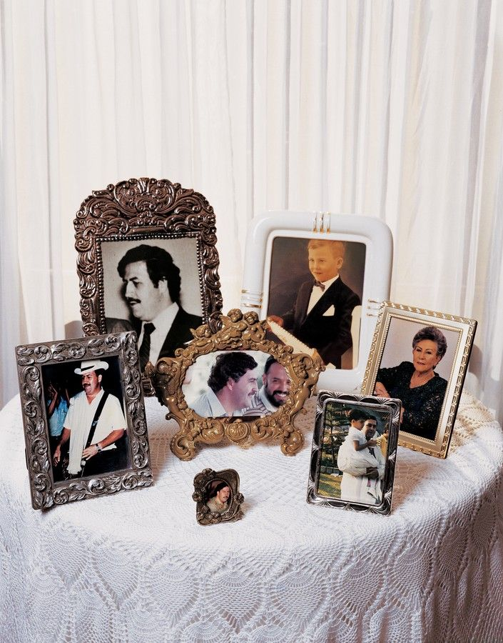 @elsoberado: The Life and Death of Pablo Escobar by Jame Mollison Concept: Photo altar table for various figures in the news. MN