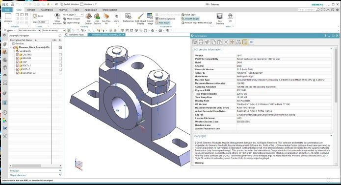 Design with Siemens NX 1847 full license | CAD CAM CNC