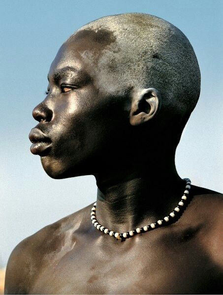 Dinka man, South Sudan: