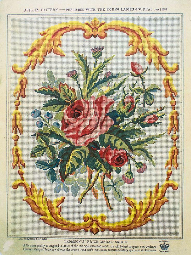 Berlin Work Pattern 'Bouquet of Roses'