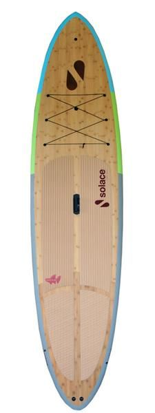 Solace SUP Boards All Around Regatta Wood Stand up Paddle Board model will accommodate any means of paddling you challenge it. The Regatta is Solace SUP Board's most popular stand up paddle board with