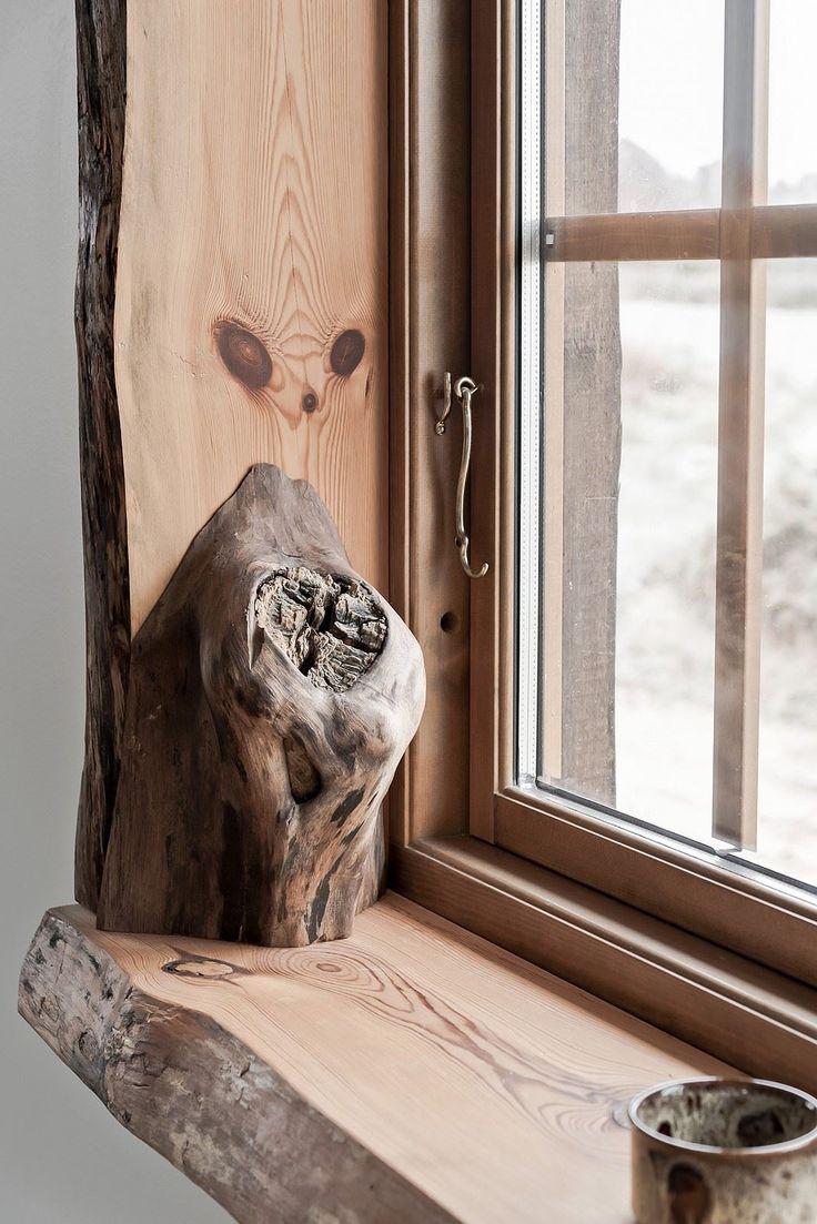 Detaljbild fönster. Jaktvillan - Bjurfors