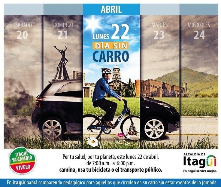 El Día sin Carro tiene como objetivo contribuir al mejoramiento de la calidad del aire. Itagüi hoy también se une a la iniciativa.