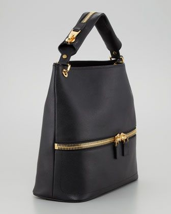 Nina Black Calfskin Hobo Bag   Tom Ford