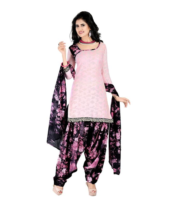 Desi Look Pink Cotton Patiala Suit with Dupatta, http://www.snapdeal.com/product/desi-look-pink-cotton-patiala/684836260512