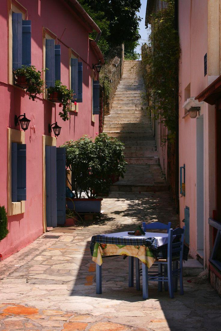 Stone steps in Lefkada