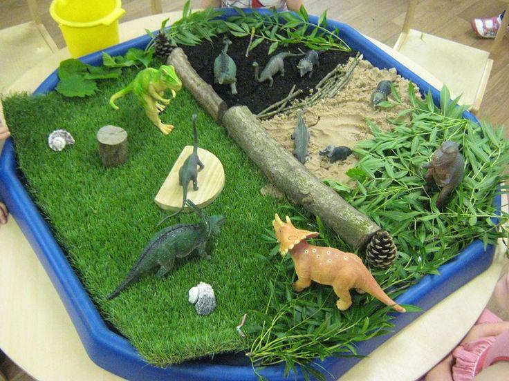 Our dinosaur scene :)