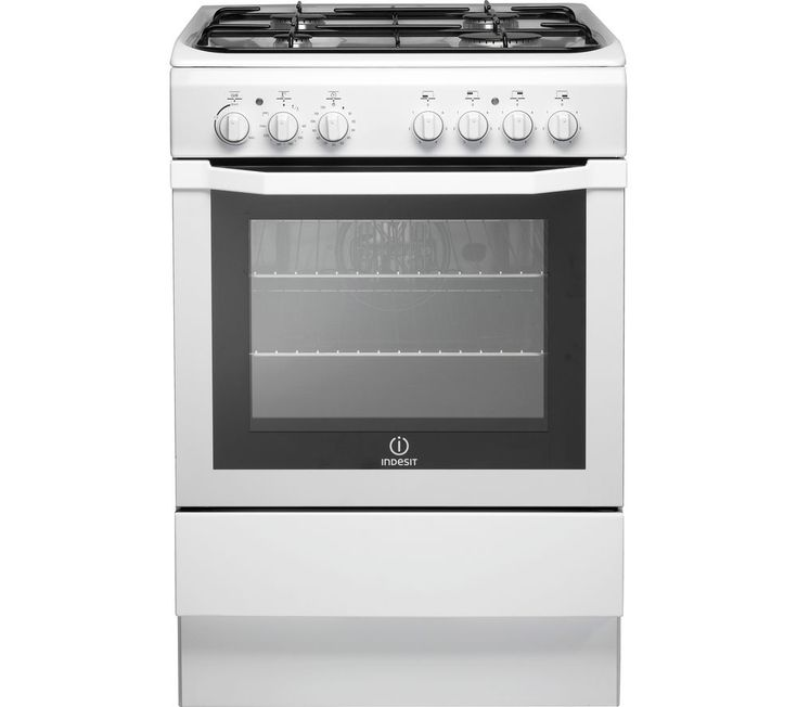 INDESIT I6GG1W 60 cm Gas Cooker - White £270 - ignition - manual. Setup £85, old removal £15, protection £2.3 Reviews- grill not the best, easy to clean, storage drawer good, pans stable on hob, glass door comes out for cleaning