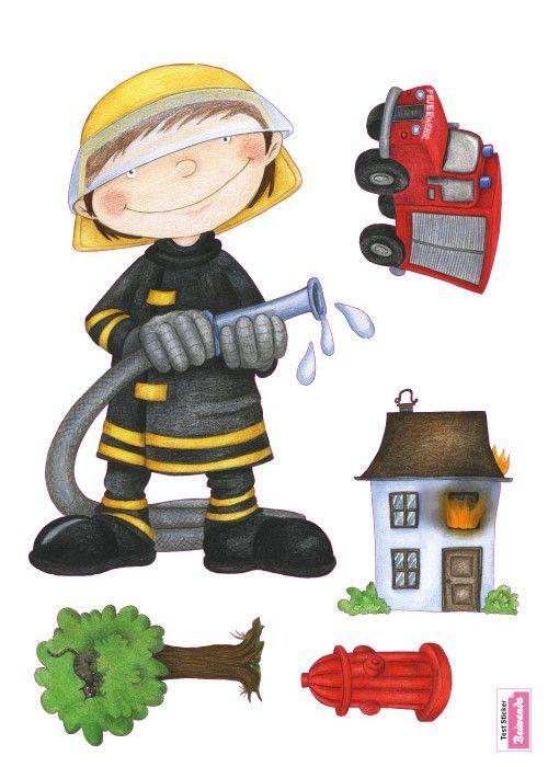 Wandtatoo: Feuerwehr Set