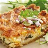 Biltong, mushroom and feta pap tert | Food24
