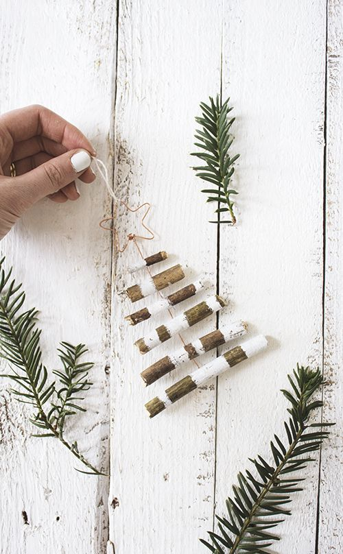DIY rustic tree decoration #christmas