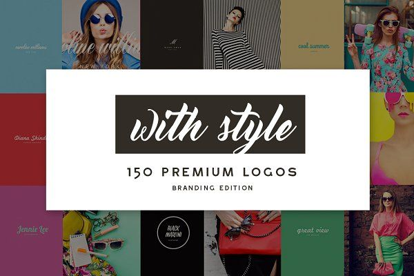 MEGA BUNDLE 1100 Logos & Badges - Logos