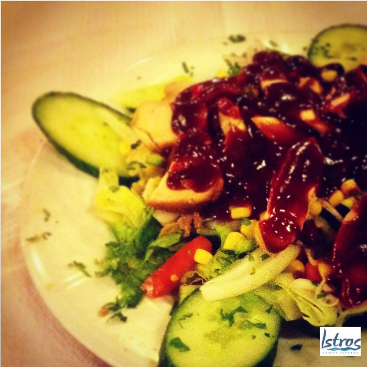 Tasty BBQ chicken salad!