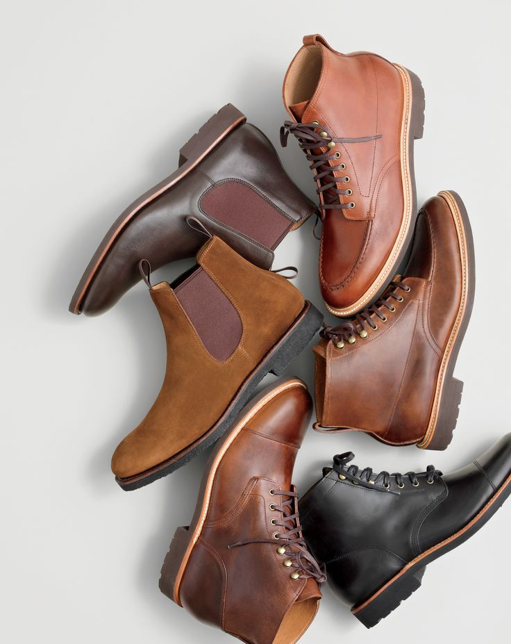 What we do at J.Crew: Kenton boots. You're going to be wearing them in some of the worst weather, so we made them with the sturdiest details, like Goodyear welts and hefty lugged soles.