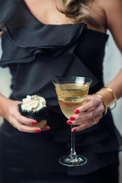 Cupcake and Champagne tasting at Corks Crowns on Sunday's in the Funk Zone, Santa Barbara