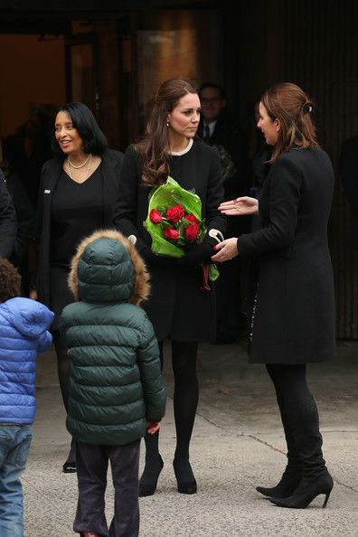 Catherine, Duchess of Cambridge greets guests at Northside Center for Child Development during her official two-day visit to the United States on December 8, 2014 in New York City.