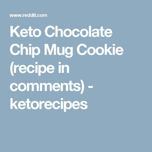 Keto Chocolate Chip Mug Cookie (recipe in comments) - ketorecipes