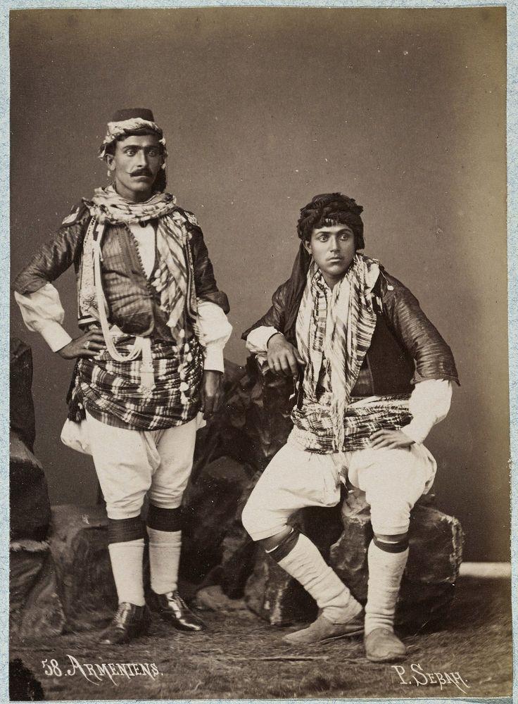 Armenians and Armenian Photographers in the Ottoman Empire. J. Pascal Sebah (Armenian, 1823-1886), Armenian Men, ca. 1875. Los Angeles, Getty Research Institute (96.R.14, Box 77).