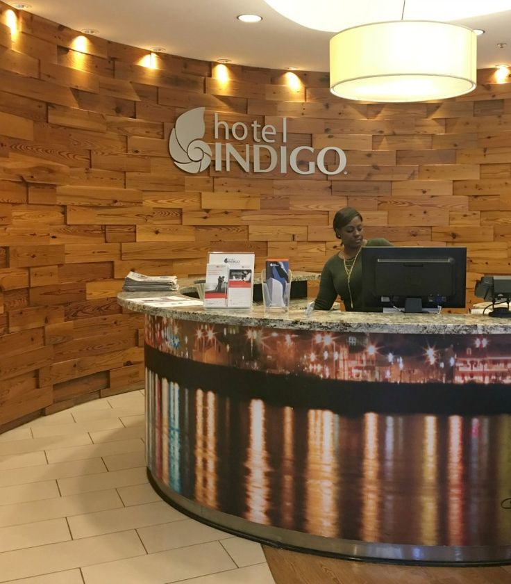 Lobby entrance of Hotel Indigo Baton Rouge Louisiana