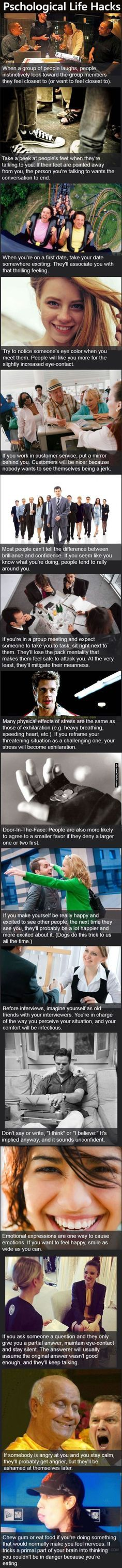 Psychological Life Hacks Pictures, Photos, and Images for Facebook, Tumblr, Pinterest, and Twitter