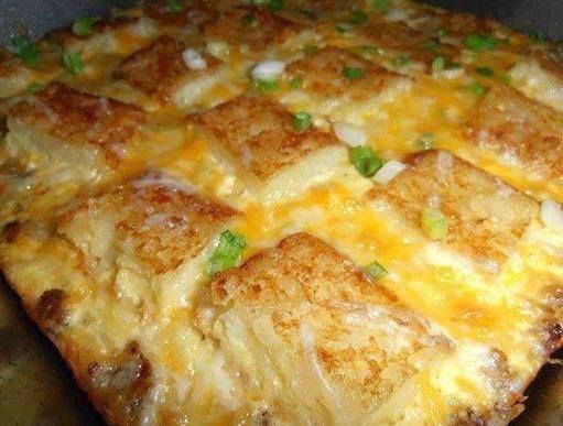 Breakfast Casserole: What you will need: 1/2 lb. breakfast sausage 3 green onions, chopped whites and greens 4 eggs 1/2 C. milk 3 frozen shredded hash brown patties 1 1/4 C. shredded Colby jack cheese How to Make It: Brown and crumble the sausage in a skillet. Drain off any grease and spoon the sausage into the …