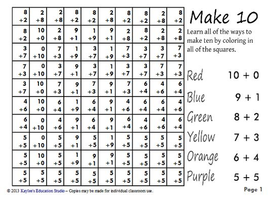 133 best Math - Making 10 images on Pinterest | Math activities ...