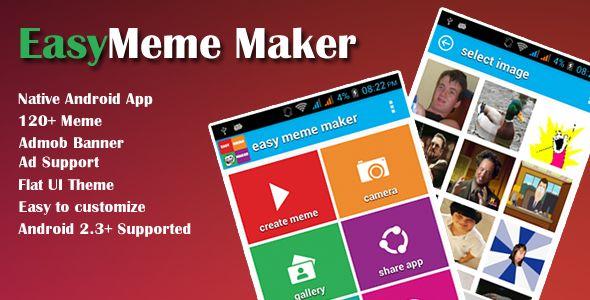 Easy Meme Maker App . Easy meme maker is a full native android application created in