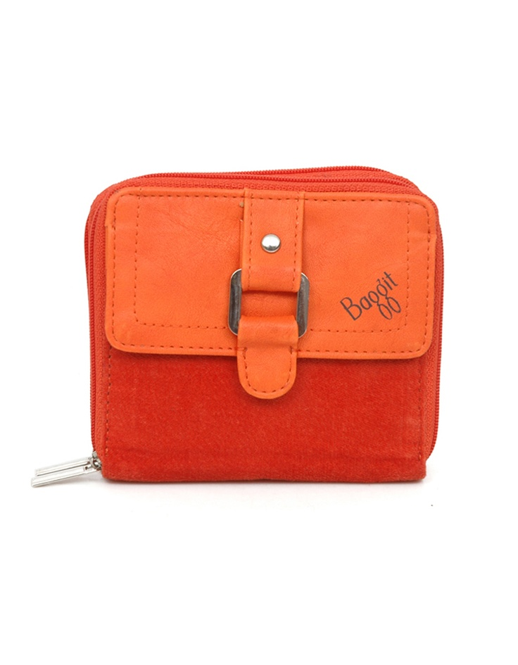 Bright wallet by Baggit sporting rich textures.
