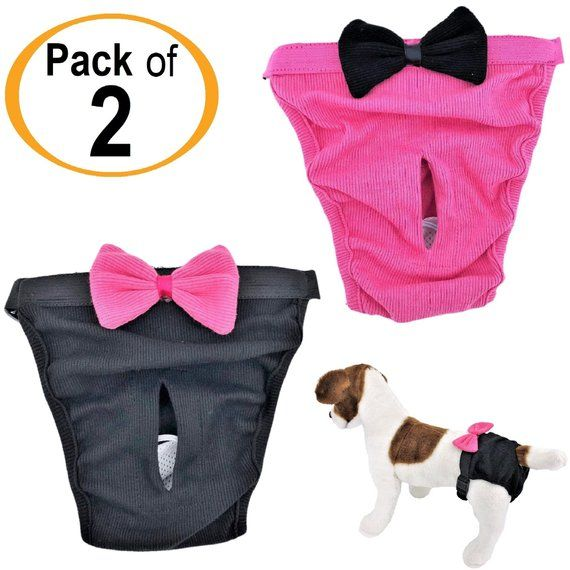 Pack 2 Colors Dog Cat Puppy Diapers Female Girl For Small And