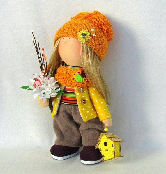 Annette Doll-Handmade Doll-Fabric Doll-Rag by NICEDOLLSANDRABBITS