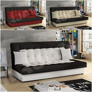 Schlafsofa Funktionssofa Gästesofa Schlafcouch Sofa Couch Pedro Kunstleder   eBay
