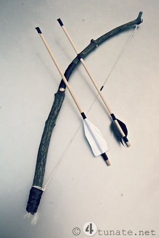 how to make a homemade bow and arrow for boys