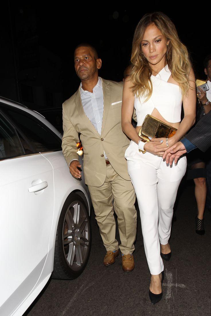 Jennifer Lopez and Benny Medina dine at Mr. Chow **NO Australia, New Zealand**