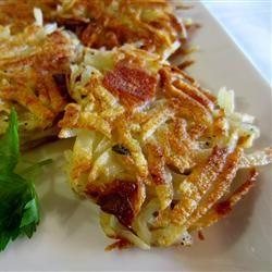 "Bacon Potato Pancakes | ""Crispy potato pancakes with bacon ..."