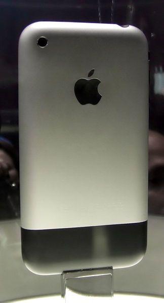 File:IPhone at Macworld (rear view).jpg