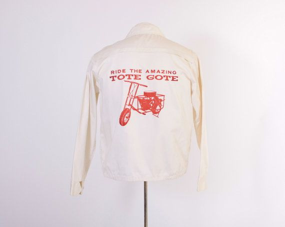 Vintage 60s Tote Gote JACKET / 1960s Rare Motorcycle Scooter Cotton Jacket L