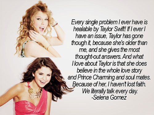 Selena Gomez on Taylor Swift That's right! Taylor IS the best! That's awesome that Selena said that!