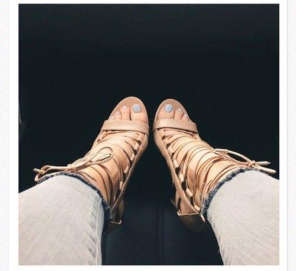 shoes kylie jenner heels nude camel strappy heels sandal heels