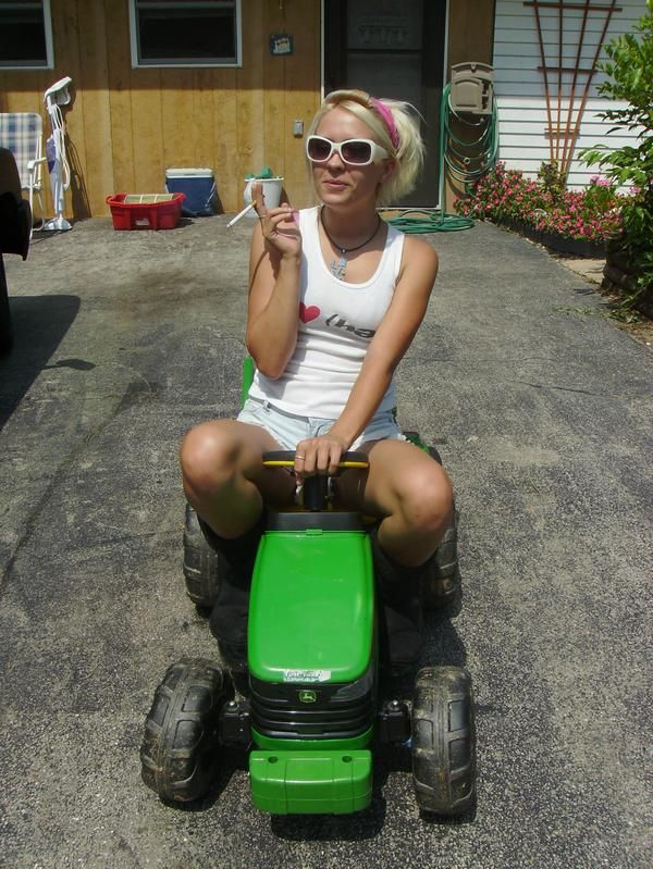 nude girls on riding mowers