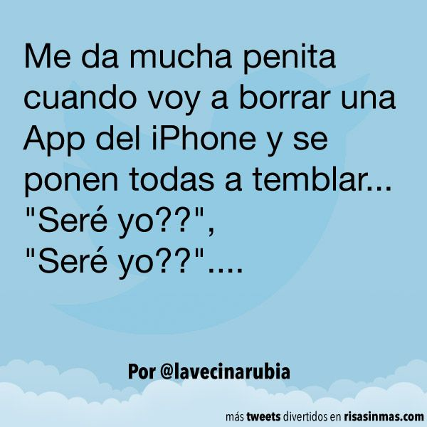 Borrando apps del iPhone. #humor #risa #graciosas #chistosas #divertidas