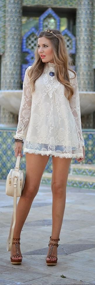 """Lace Crochet Blouse -   Helena  ♥♡♥♡♥Thanks, Pinterest Pinners, for stopping by, viewing, re-pinning,  following my boards.  Have a beautiful day! ^..^ and """"Feel free to share on Pinterest ^..^ #streetfashion   #fashionupdates"""
