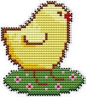 Chickens, cross stitch patterns and charts free - www.free-cross-stitch.rucniprace.cz