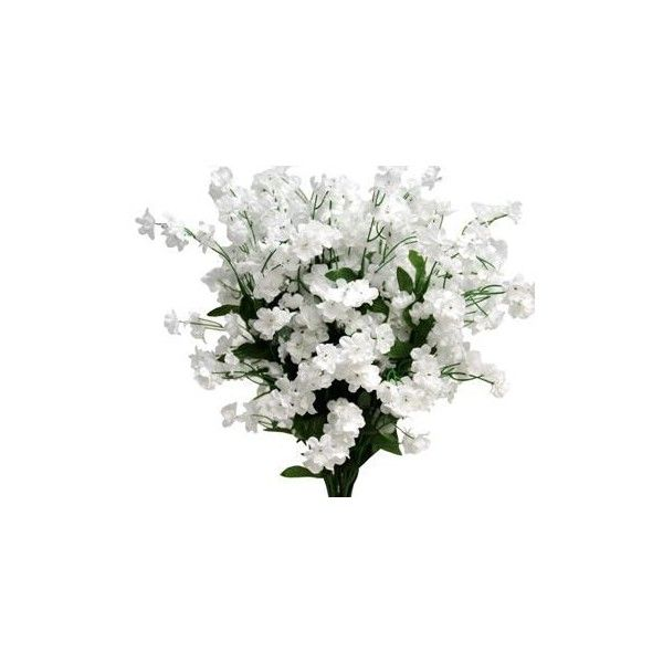 Silk Baby Breath - White - 12/pk   eFavorMart ❤ liked on Polyvore featuring flowers, plants, backgrounds, fillers and decorations
