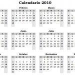 Calendario 2010 para imprimir